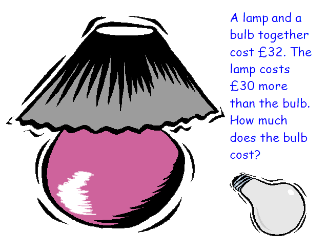 St. Albans maths puzzle The bulb and the lamp